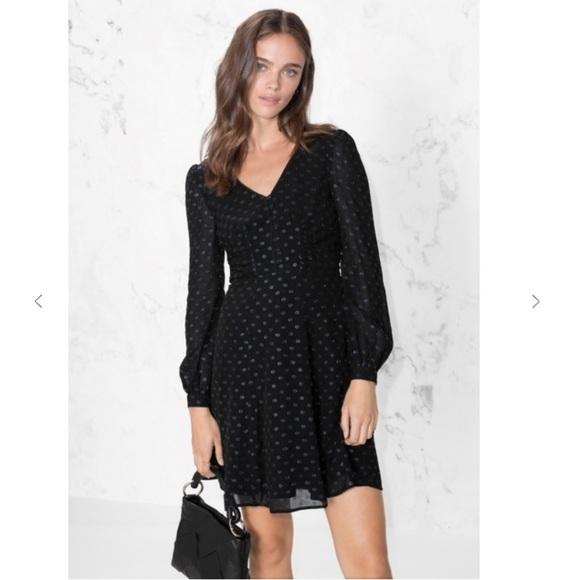 4ca6d5d8312f Other Stories Dresses & Skirts - & Other Stories metallic polka dot Mini  dress 6